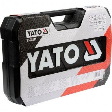 """Galvučių ir raktų komplektas Yato 216 vnt. 1/4"""" + 3/8"""" + 1/2"""" 4"""