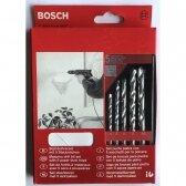Grąžtų rinkinys mūrui, betonui Bosch, 5 vnt (4,5,6,8,10mm)