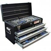 Įrankių rinkinys su metaline dėže BGS-technic, 3 stalčiai, 143 įrankiai