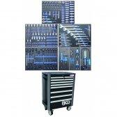 Įrankių spintelė su ratukais BGS-technic Pro Standard su 234 įrankiais