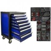 Įrankių spintelė - vežimėlis su 7 stalčiais ir 185 įrankiais