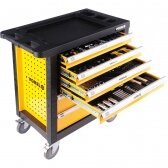 Įrankių spintelė Vorel 177 įrankiai, 6 stalčiai (58540)