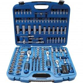 """Įrankių rinkinys, daugiafunkcinės galvutės BGS-TECHNIC 1/4"""" + 3/8"""" + 1/2"""", 192 VNT"""