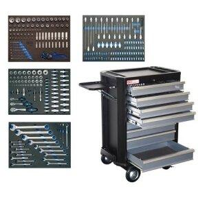 Įrankių spintelė BGS-technic su 8 stalčiai ir 293 įrankiais