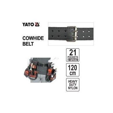 Įrankių diržas su kišenėmis Yato YT-7400 2