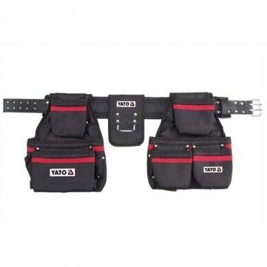Įrankių diržas su kišenėmis Yato YT-7400