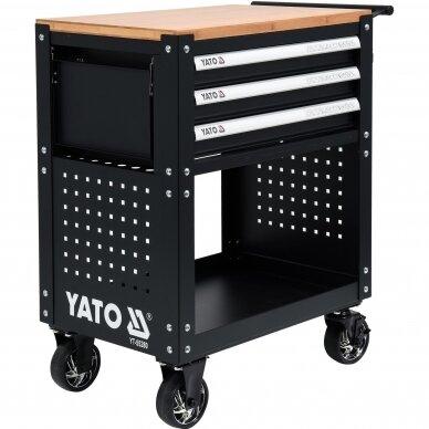 Įrankių spintelė Yato su 162 įrankiais, 3 stalčiais (YT-55280) 3