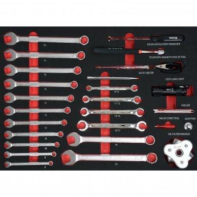 Įrankių spintelė Yato su 162 įrankiais, 3 stalčiais (YT-55280) 8