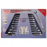 Kombinuotų raktų rinkinys (DIN 3113) BGS-technic 6 - 22 mm, 12 vnt.
