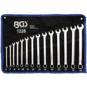 Kombinuotų pailgintų raktų komplektas BGS-technic 6 - 19 mm, 14 vnt.