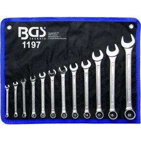 Kombinuotų raktų rinkinys BGS-technic 6 - 22 mm, 12 vnt.