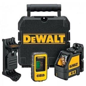 Kryžminis lazerinis nivelyras Dewalt DW088KD + imtuvas Dewalt DE0892
