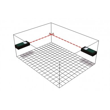 Lazerinis atstumo matuoklis Metabo LD 60 /  0,05 - 60 m. 3