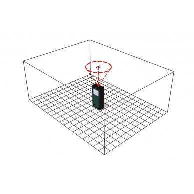 Lazerinis atstumo matuoklis Metabo LD 60 /  0,05 - 60 m. 6