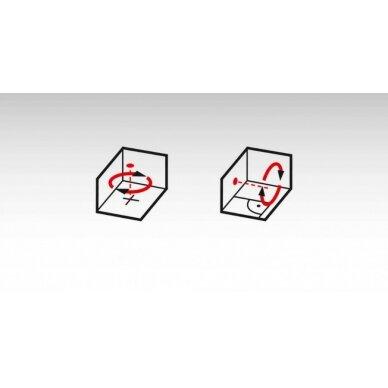 Lazerinis nivelyras LAR 160 + trikojis + liniuotė, RED, Stabila 7