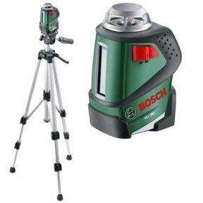 Linijinis lazerinis nivelyras Bosch PLL 360 Set su trikoju stovu