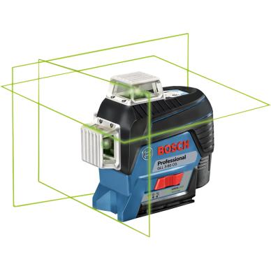 Linijinis lazerinis nivelyras Bosch GLL 3-80 CG Professional + 2.0Ah + BM1 + L-Boxx 3