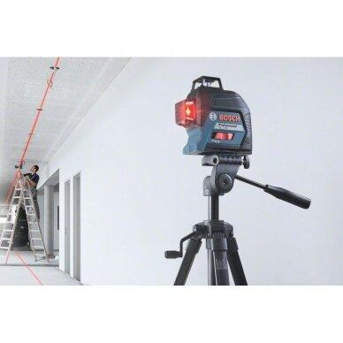 Linijinis lazerinis nivelyras Bosch GLL 3-80 Professional 2