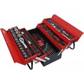 Metalinė įrankių dėžė su įrankiais, BGS-technic, 86 vnt.