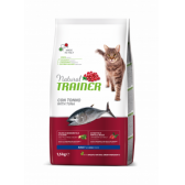 NATURAL TRAINER sausas pašaras CAT ADULT TUNA su tunu 1.5kg