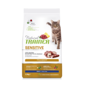 NATURAL TRAINER sausas pašaras CAT SENSITIVE DUCK su aNOVA FOODS sausas pašarasiena 1.5kg