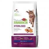 NATURAL TRAINER sausas pašaras CAT STER. SALMON steriliz. su lašiša 1.5kg