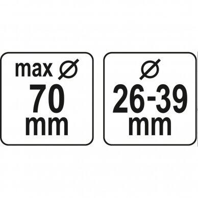 NUSIURBIMO SISTEMA  grąžtams ir kaltams Yato 29 - 36 mm,70 mm (YT-82982) 2