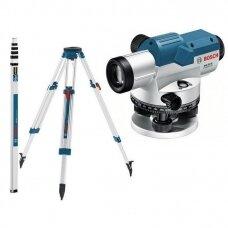 Optinis nivelyras Bosch GOL 32D + stovas BT 160 + liniuotė GR 500