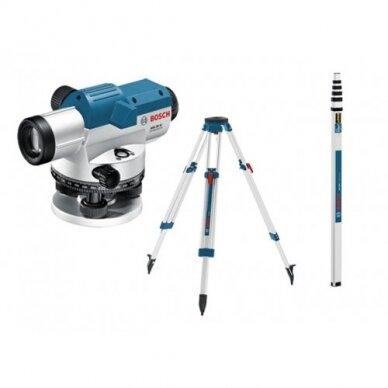 Optinis nivelyras Bosch GOL 26 D + BT 160 + GR 500