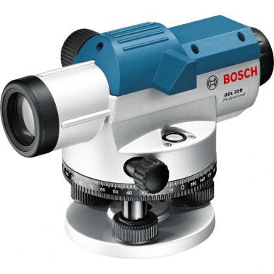 Optinis nivelyras Bosch GOL 32D + stovas BT 160 + liniuotė GR 500 3