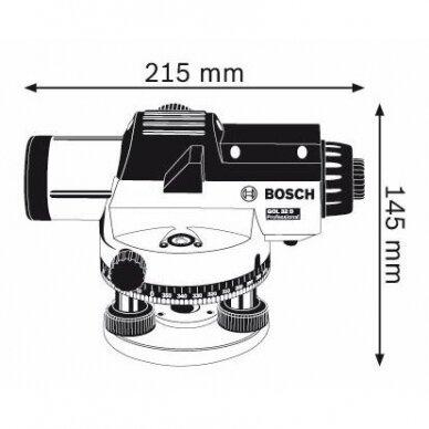 Optinis nivelyras Bosch GOL 32D + stovas BT 160 + liniuotė GR 500 4
