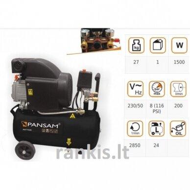 Oro kompresorius Pansam A077020, 1,5 KW, 8 bar, 24L 2