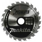 Pjovimo diskas 165*20x1,5mm 24T 20° akumuliatoriniam įrankiui Makita B-09167