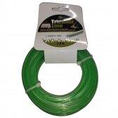 Pjovimo valas Trimmer line 2.4mm x 15m, DUAL-CUT žalias