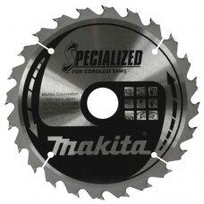 Pjovimo diskas 165*20x1,5mm 24T 20° akumuliatorianiam įrankiui Makita B-09167