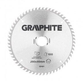 Pjovimo diskas aliuminiui Graphite 55H611, 250X30, 100 dantukų