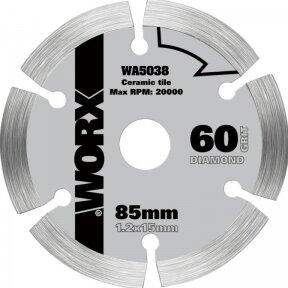 Pjovimo diskas keramikai 85 mm WX423, Worx