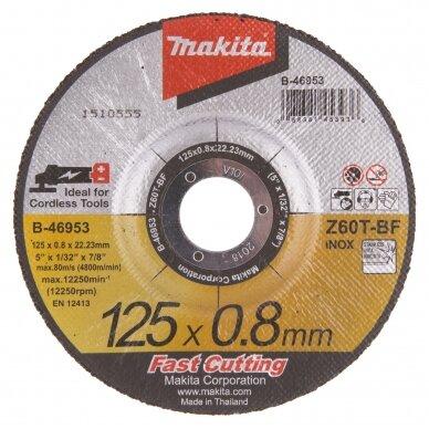 Pjovimo diskas 125x0,8mm, Z60T-BF, OFF-SET Makita B-46953