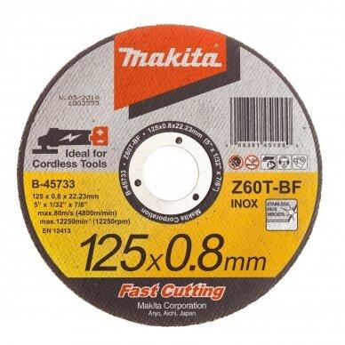 Pjovimo diskas 125X0.8mm, Z60T-BF, RST Makita B-45733, 12vnt 2