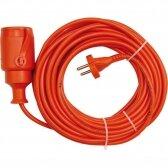 Prailginimo kabelis su lizdu 2x1 mm² 10m (oranžinis)