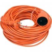 Prailginimo kabelis su lizdu 2x1 mm² 20m (oranžinis)