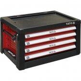 Profesionali įrankių spintelė su 4 stalčiais Yato, 690x465x400MM (YT-09152)
