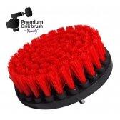 Profesionalus valymo šepetys NEMO Premium Drill Brush - kietas, raudonas, 13 cm