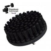 Profesionalus valymo šepetys NEMO Premium Drill Brush - ypač kietas, juodas, 13 cm