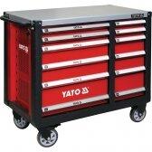 Profesionalus vežimėlis/stelažas įrankiams Yato su 12 stalčių XL (YT-09003)