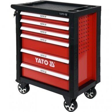 Profesionali įrankių spintelė Yato su 177 įrankiais, 6 stalčiais (YT-55300) 2