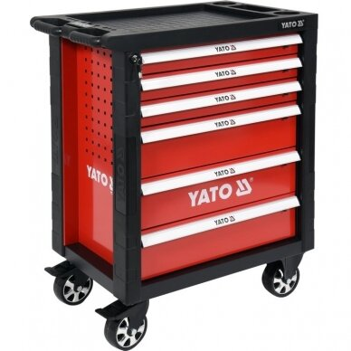 Profesionali įrankių spintelė Yato su 177 įrankiais, 6 stalčiais (YT-55300) 3