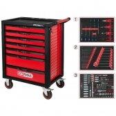 RACINGline įrankių spintelė su 7 stalčiais, 215 vnt, KS tools