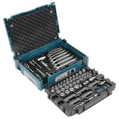 Raktų, galvučių ir antgalių rinkinys Makita E-08713, 120 vnt. su lagaminu