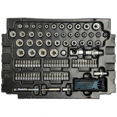 Raktų, galvučių ir antgalių rinkinys Makita E-08713, 120 vnt. su lagaminu 3